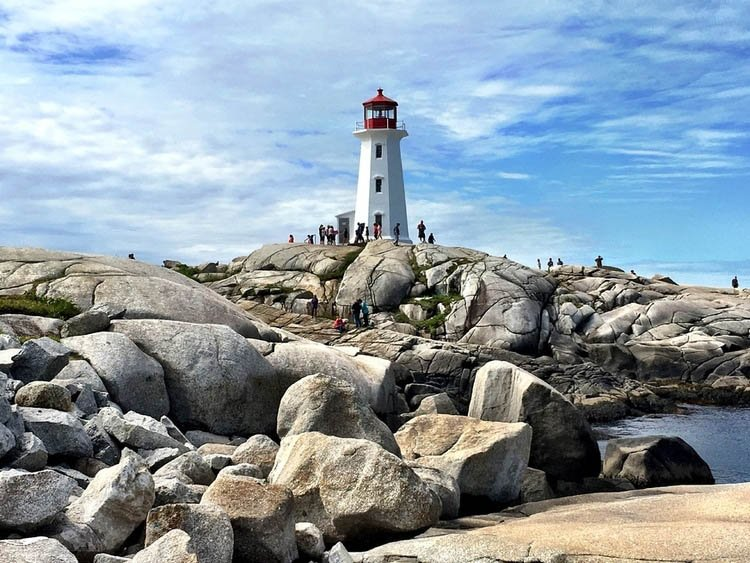 boulders at Peggy's Cove, a top thing to do in Nova Scotia