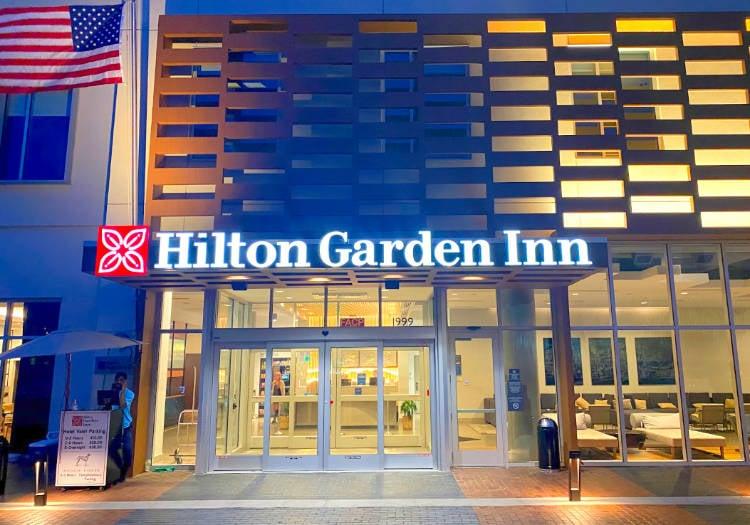 View of exterior of the Hilton Garden Inn Union Station Denver