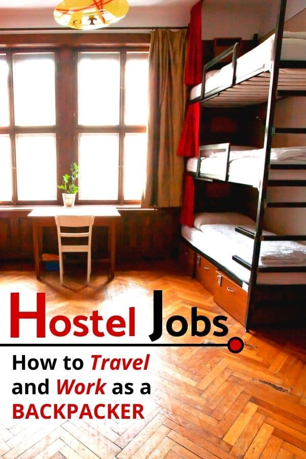 Curious about #HostelJobs? As a #DigitalNomad or #Backpacker, working at a hostel is a great way to save money on the road, give you a place to sleep while sustaining your long-term travel, and provides you tons of connections and opportunities in the process. In this article, you'll get tips on how to land a hostel job, know the different kinds of hostel jobs, what it's like to work at a hostel, how it pays, and if taking on a hostel job is a right fit for you.
