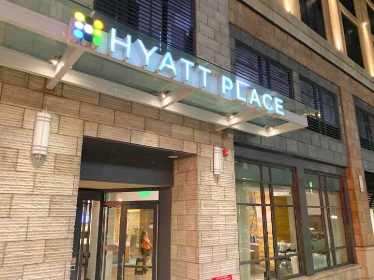Exterior of the Hyatt Place Denver