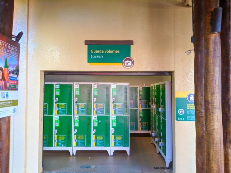 Lockers on the Brazil side of Iguazu Falls