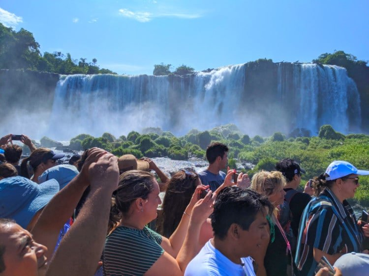 Overtourism in Iguazu Falls Brazil