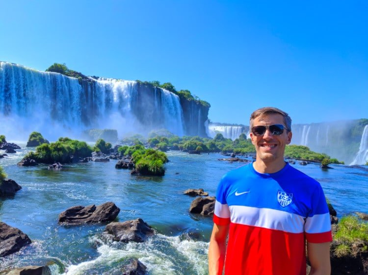 Travel Lemming at Iguazu Falls Brazil Side