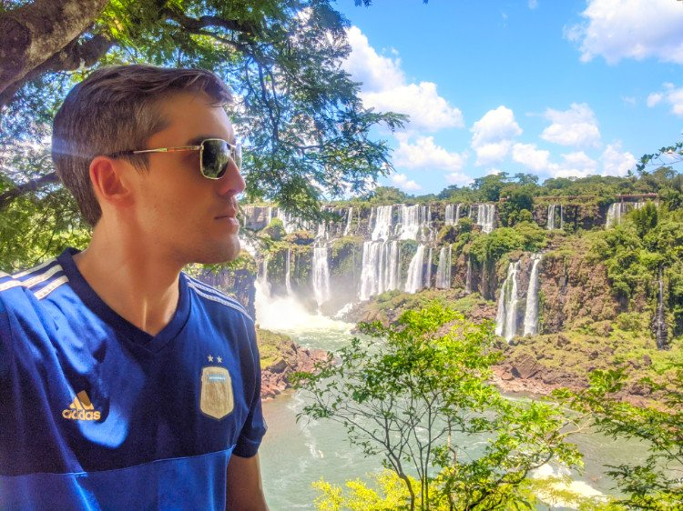 Travel Lemming at Iguazu Falls Argentina
