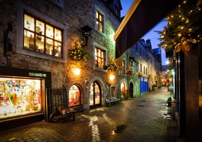 The streets of old town in Galway
