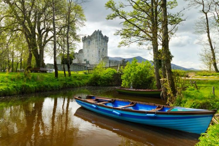 A boat in Killarney Ireland