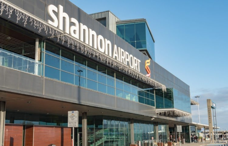 View of outside of the Shannon Airport