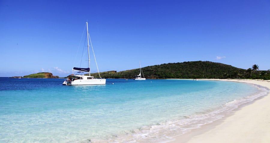 View of the sea in Culebrita Island