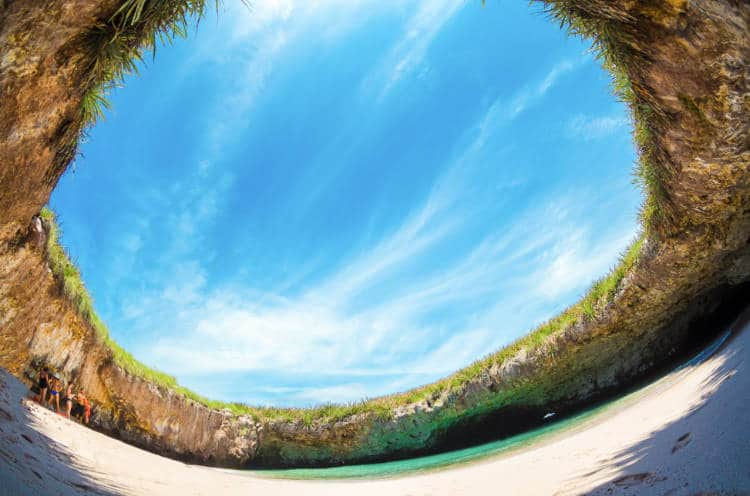View of the famous Islas Marietas in Puerto Vallarta