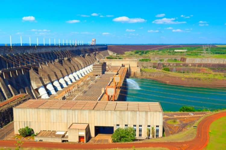 View of Itaipu Dam in Brazil