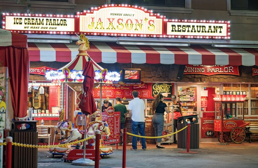 View of people buying in Jaxson's Ice Cream Parlor