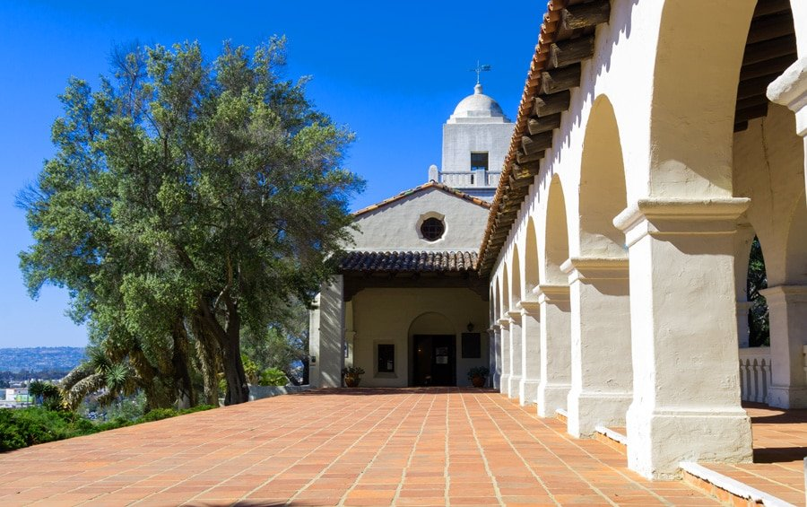 View of the outside of Junipero Serra Museum