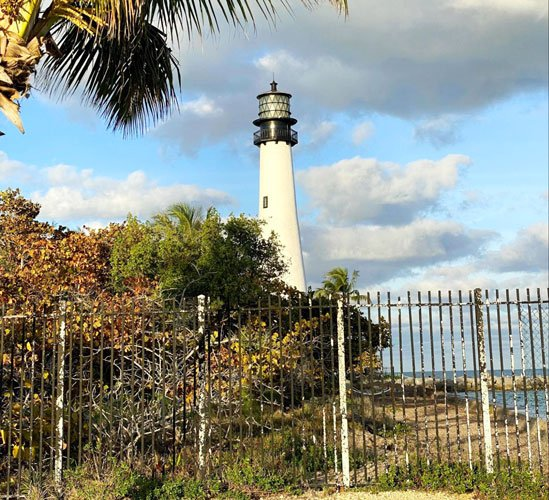 The Cape Florida Lighthouse in Key Biscayne