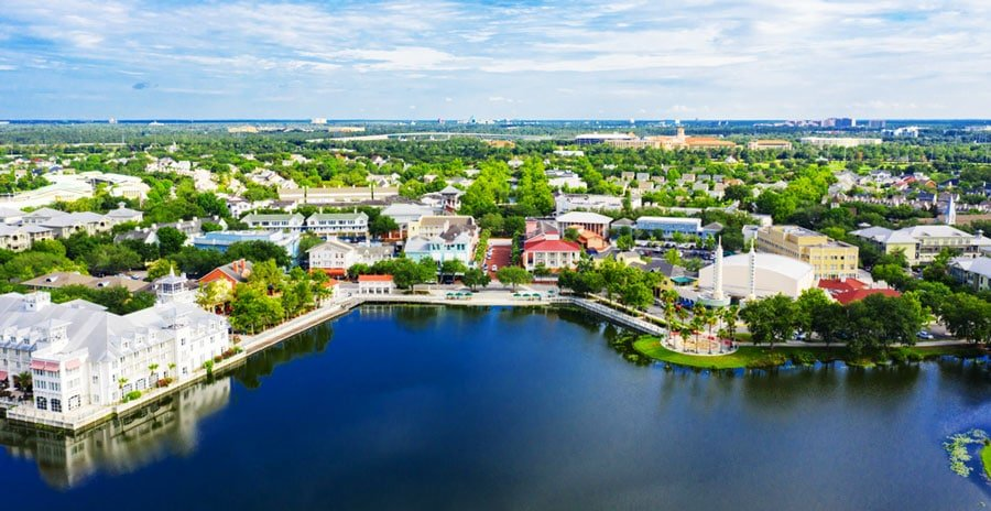 Aerial view of the Town of KIssimmee