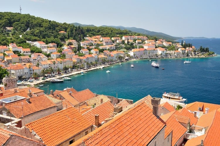 Korcula island in Croatia is home to azure waters, dense forests, and great coastline.