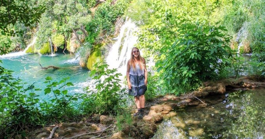 View of the author standing in Krka National Park