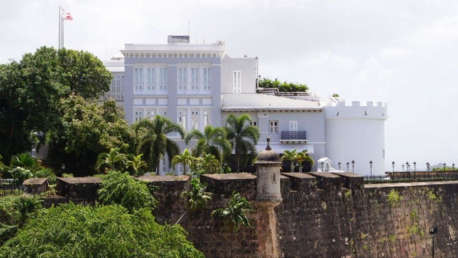 View of the La Fortaleza from afar