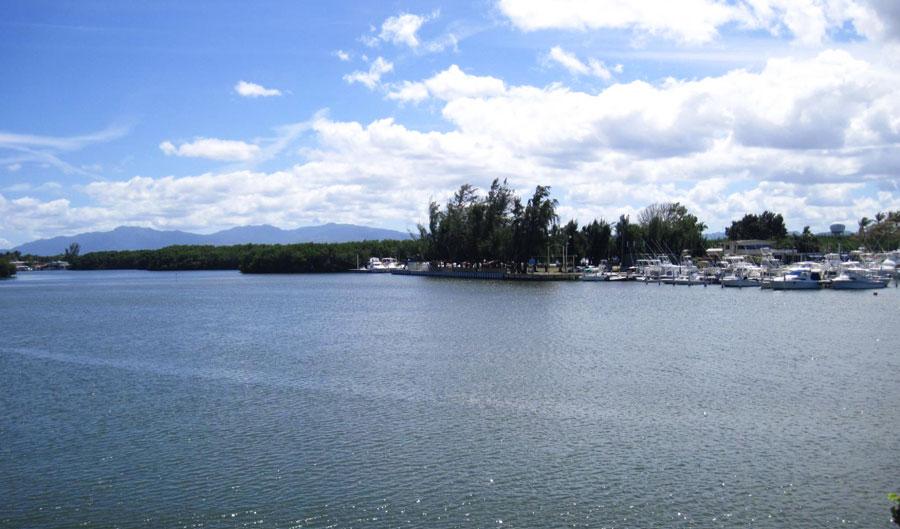 View of the coastal town of La Parguera