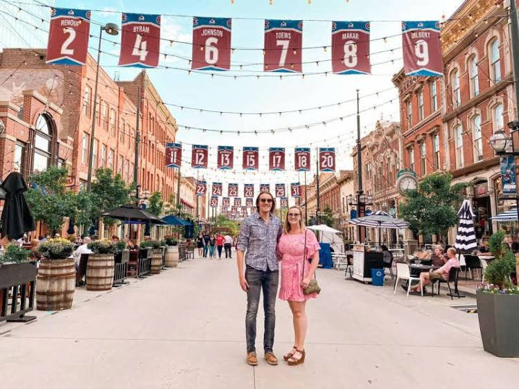 Nate and his sister in Larimer Square