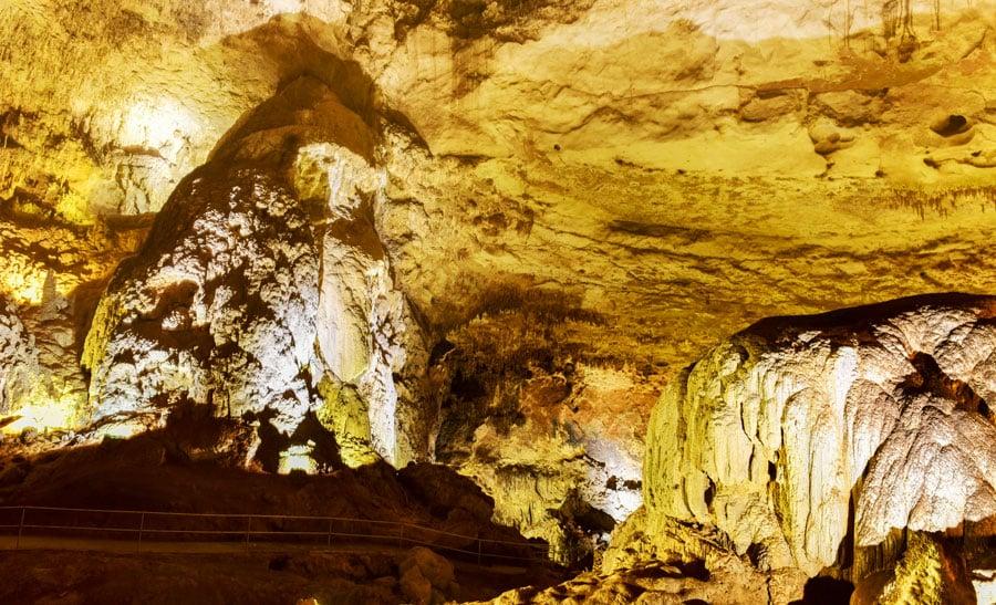 View of the rock formation in Las Cavernas de Camuy