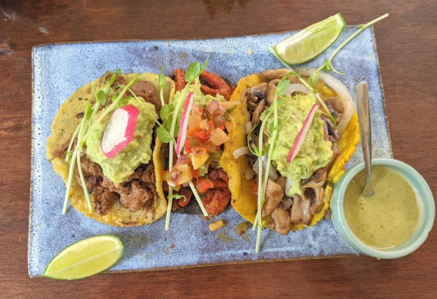 Vegan Tacos at Le Kaat Restaurant