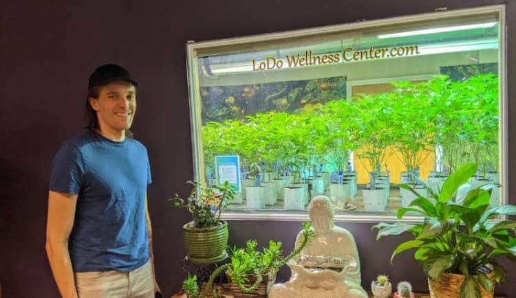 Nate at the LoDo Wellness Center dispensary
