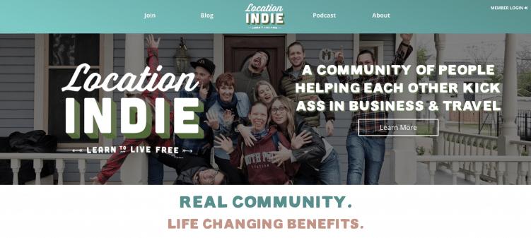 Location Indie website digital nomad travel blog
