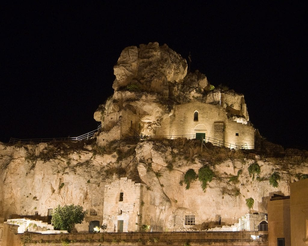 Madonna de Idris rock-church. Matera. Basilicata.