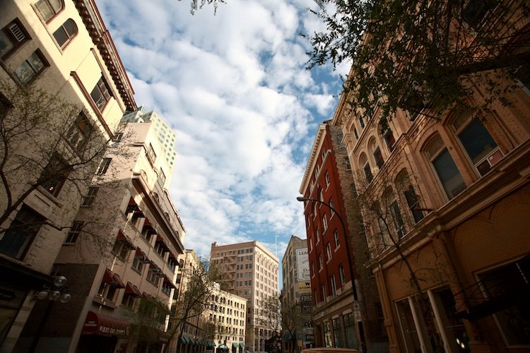 Old buildings in the Exchange District of Downtown Winnipeg