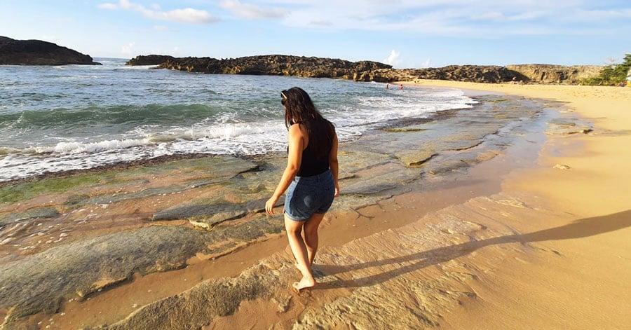 View of the author having fun in Mar Chiquita