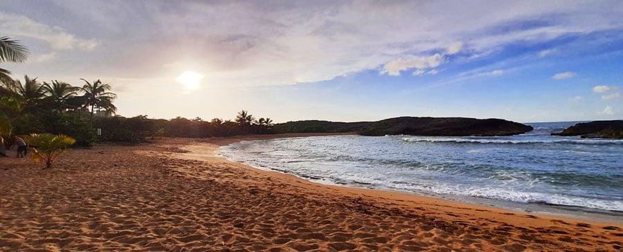 Panoramic view of the Mar Chiquita Beach