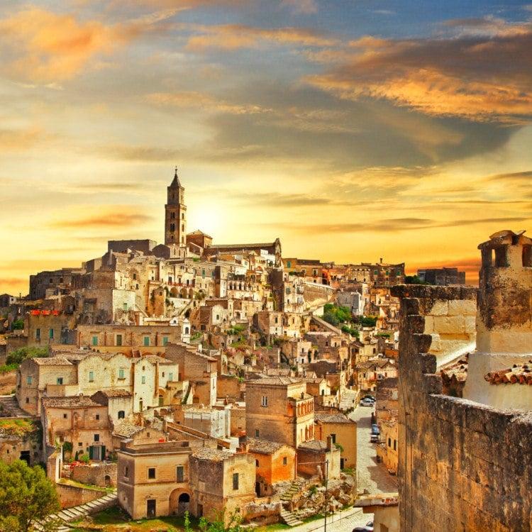 Matera Italy Sunset
