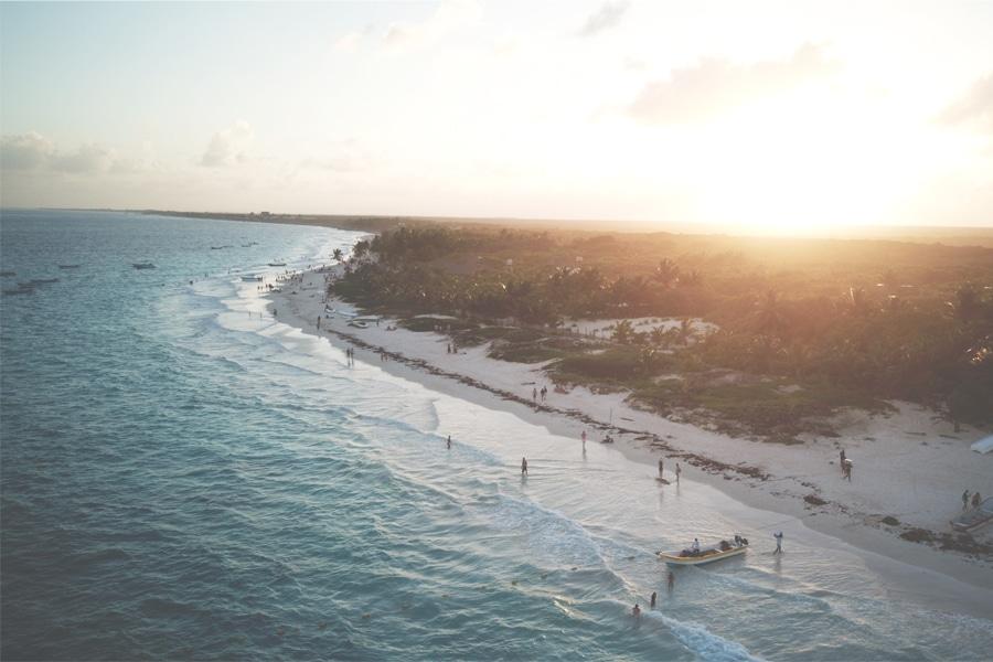 Drone photo of Maya Riviera