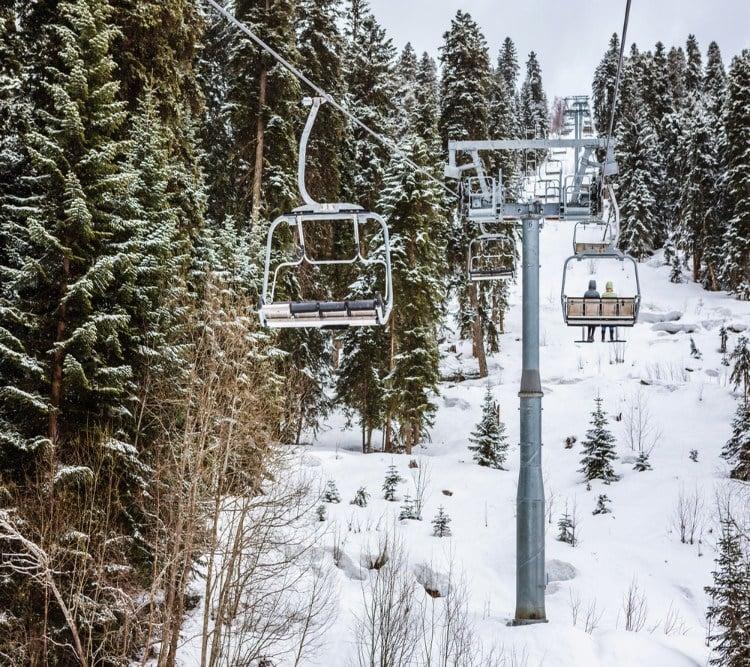 Ski Lift in Mestia Svaneti Georgia