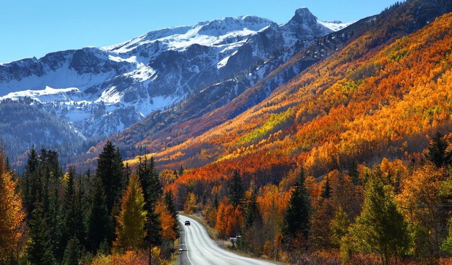 View of the Million Dollar Highway to Silverton