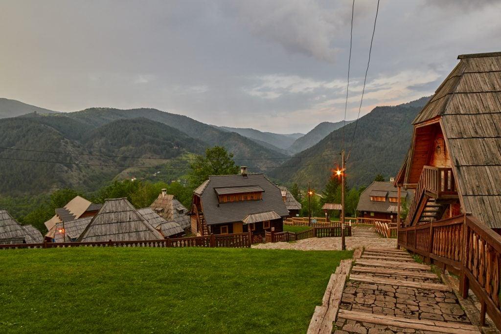 Eco village built by Emir Kusturica in Mokra Gora of in Western Serbia