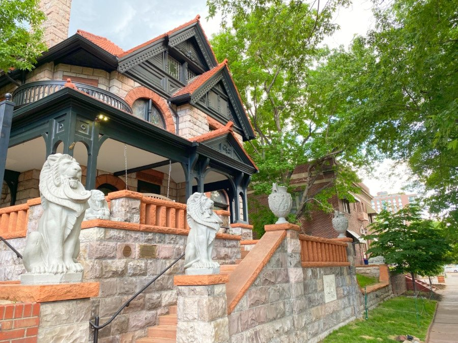 Exterior view of the Molly Brown House in the Denver Capitol Hill neighborhood