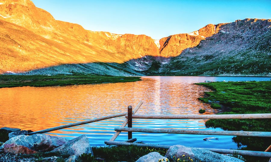 View of the summit lake along the mt. evans scenic byway
