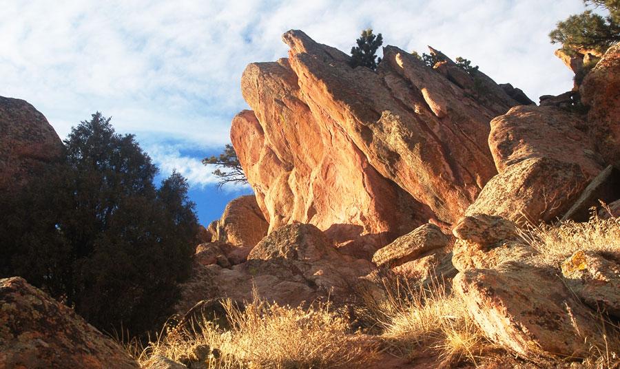View of the Mount Sanitas Trail