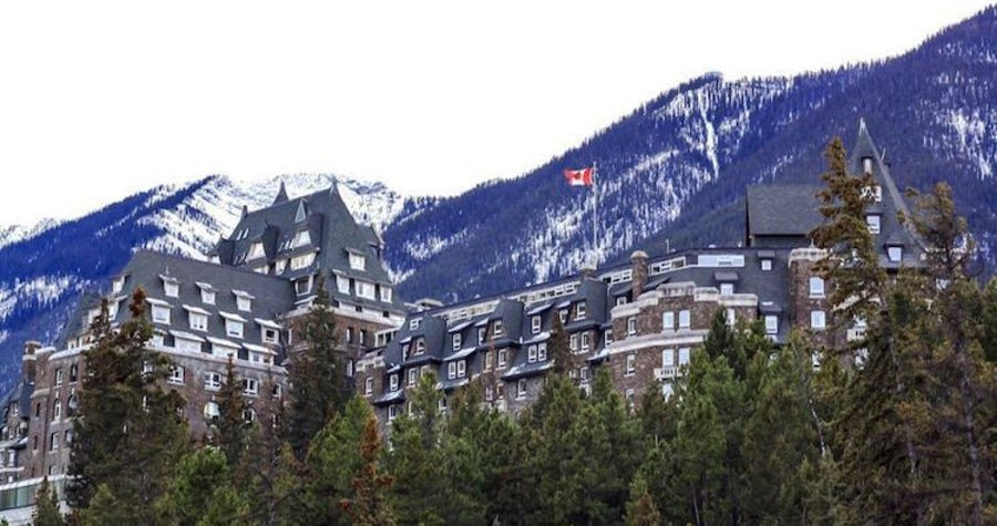 View of the Fairmont Banff Springs Hotel in Canada