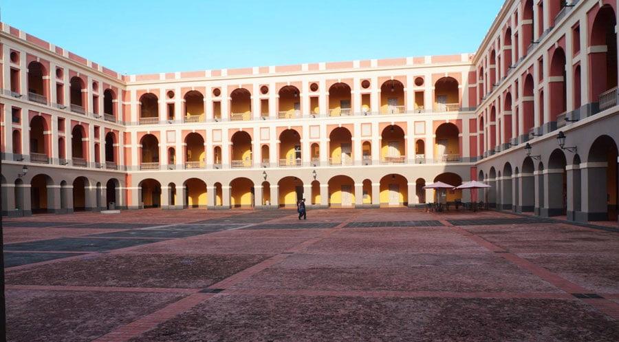View of the historic El Museo Las Americas