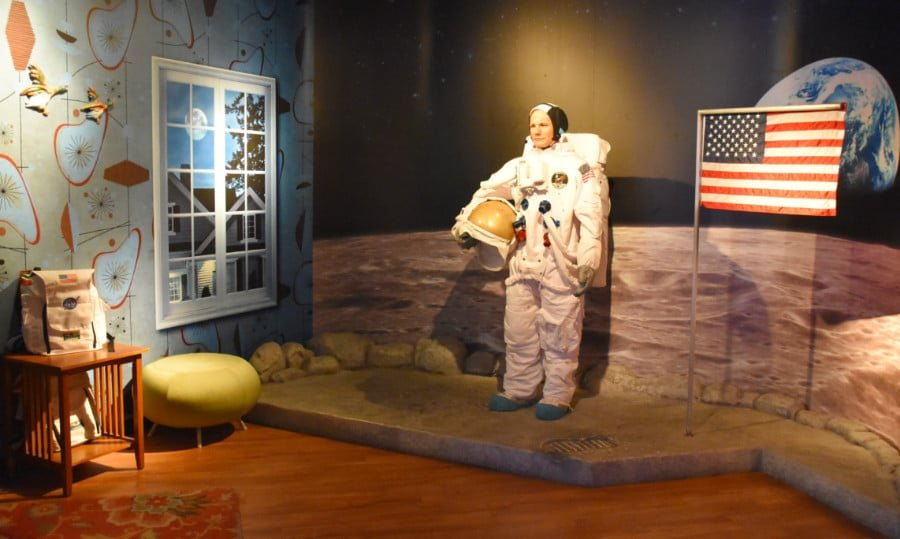 View of the Neil Armstrong Wax Figure at Madame Tussauds Orlando