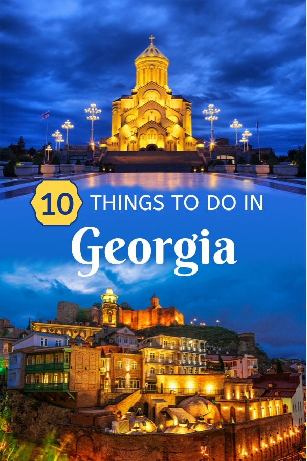 Wondering about the best things to do in #Georgia (the country in Europe)? This #TravelGuide will provide you with 10 incredible suggestions. From strolling along Georgia's capital -- Old Town #Tbilisi, to trying out the traditional Georgian cheese bread -- #Khachapuri, read this to make sure you don't miss out on anything as you explore this beautiful European country.