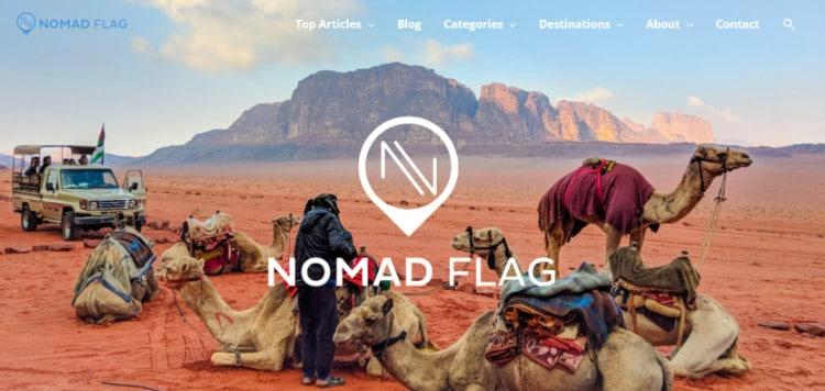 Nomad Flag website homepage