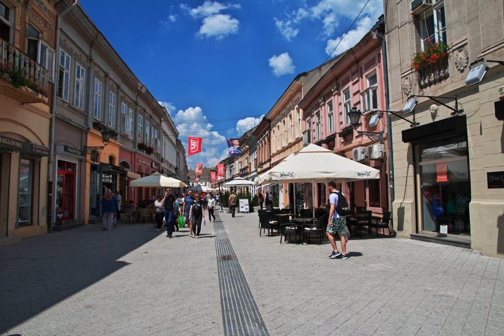 streets of Nova Sad in day time