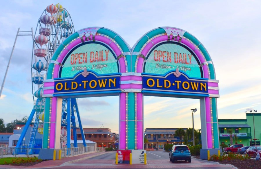 View of entrance to Old Town Orlando