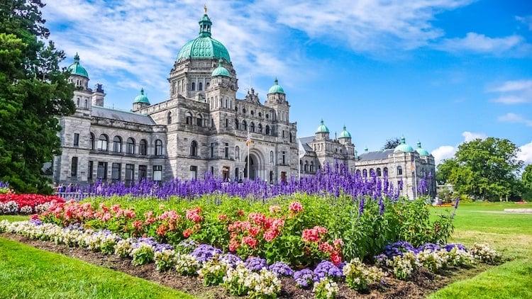 The capital building in Victoria, British Columbia Canada