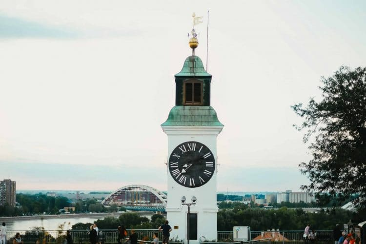 white old clock tower