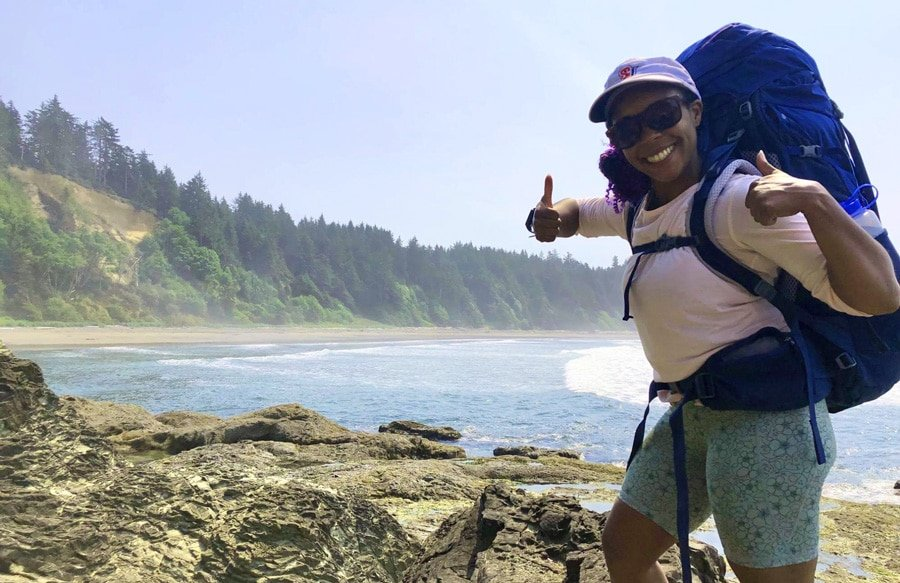 View of the author in Olympic National Park