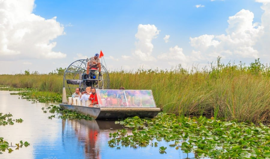 An airboat in the Everglades